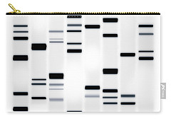 Dna Art Black On White Carry-all Pouch