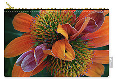 Carry-all Pouch featuring the photograph Double Coneflower by Dale Kincaid