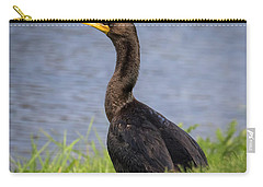 Carry-all Pouch featuring the photograph Double-crested Cormorant by Ricky L Jones