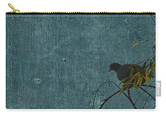 Carry-all Pouch featuring the photograph Dove In Blue by Attila Meszlenyi