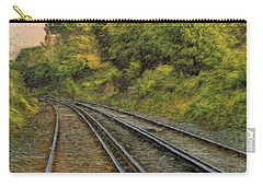 Carry-all Pouch featuring the photograph Down The Track by Leigh Kemp