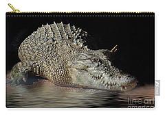 Carry-all Pouch featuring the photograph Dozy Crocodile by Elaine Teague