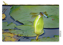 Dragonfly On Liliy Bud Carry-all Pouch