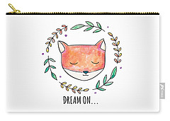 Dream On - Boho Chic Ethnic Nursery Art Poster Print Carry-all Pouch