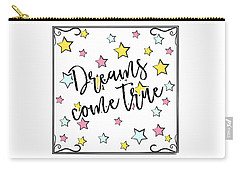 Dreams Come True - Baby Room Nursery Art Poster Print Carry-all Pouch