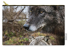 Dual Wolves Carry-all Pouch