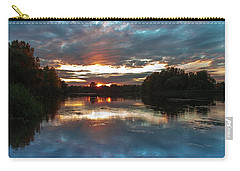 Carry-all Pouch featuring the photograph Dusk Aquarelle by Davor Zerjav