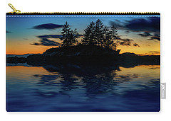 Carry-all Pouch featuring the photograph Dusk At Lookout Point by Rick Berk