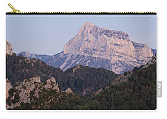 Carry-all Pouch featuring the photograph Dusk At Pena Montanesa by Stephen Taylor