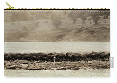 Carry-all Pouch featuring the photograph Dust Of The Migration by Kay Brewer