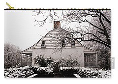 Carry-all Pouch featuring the photograph Dyckman Farmhouse In Winter by Cole Thompson