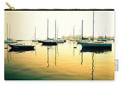 Carry-all Pouch featuring the photograph Early Mornings At The Harbour by Geraldine Gracia