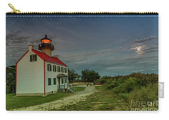 East Point Lighthouse In Moonlight Carry-all Pouch