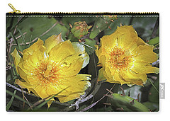 Carry-all Pouch featuring the photograph Eastern Prickley Pear Cactus Flower On Assateague Island by Bill Swartwout Fine Art Photography