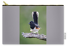 Carry-all Pouch featuring the photograph Eastern Towhee 50413 by Rick Veldman