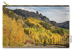 Carry-all Pouch featuring the photograph Easy Autumn Rider by James BO Insogna