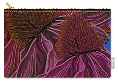 Echinacea Flower Blues Carry-all Pouch