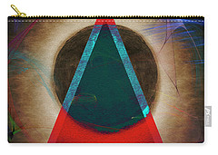 Carry-all Pouch featuring the digital art Eclipse 2024 by Edmund Nagele
