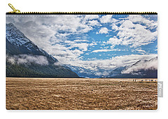 Carry-all Pouch featuring the photograph Eglinton Valley - New Zealand by Steven Ralser