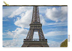 Carry-all Pouch featuring the photograph Eiffel Tower by Jim Mathis