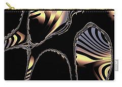 Elegant Black Fractal 1 Carry-all Pouch