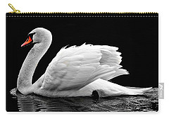 Carry-all Pouch featuring the photograph Elegant Swan by Top Wallpapers