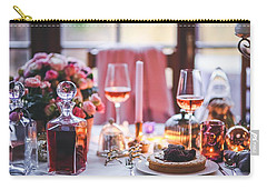 Carry-all Pouch featuring the photograph Elegant Tablewear by Top Wallpapers