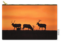 Elk In The Morning Light Carry-all Pouch