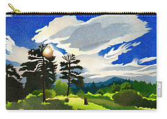 Carry-all Pouch featuring the drawing Elk Ridge Twilight by Dan Miller
