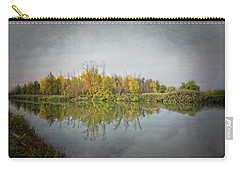 Carry-all Pouch featuring the photograph Ellicott Creek Reflections by Guy Whiteley
