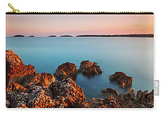 Carry-all Pouch featuring the photograph Ember And Blue by Davor Zerjav