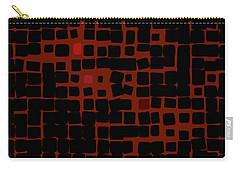 Carry-all Pouch featuring the digital art Ember by Attila Meszlenyi
