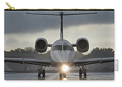 Carry-all Pouch featuring the photograph Embraer 145 by Guy Whiteley