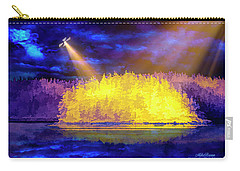 Carry-all Pouch featuring the photograph Encounter by Mike Braun