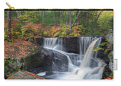 Carry-all Pouch featuring the photograph Enders Falls Autumn 2 by Bill Wakeley