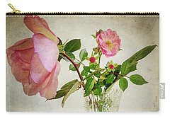 Carry-all Pouch featuring the digital art English Rose by Edmund Nagele