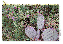 Carry-all Pouch featuring the photograph Ensconced Prickly Pear 5 by Lynda Lehmann