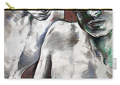 Carry-all Pouch featuring the painting Entanged Boys by Rene Capone