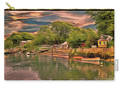 Carry-all Pouch featuring the photograph Everything That I Love About The River by Leigh Kemp