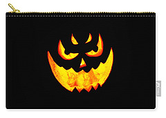 Evil Glowing Pumpkin Carry-all Pouch