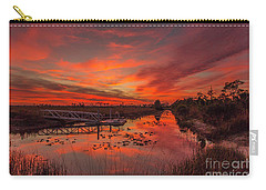 Explosive Sunset At Pine Glades Carry-all Pouch