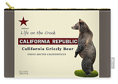 Extinct California Grizzly Bear Carry-all Pouch