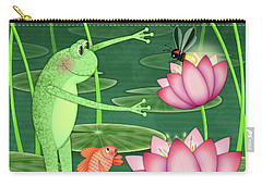 F Is For Frog Carry-all Pouch