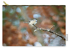 Carry-all Pouch featuring the photograph Fall Chickadee by Sue Collura