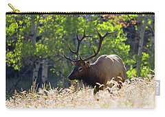 Fall Color Rocky Mountain Bull Elk Carry-all Pouch