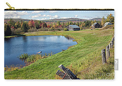 Carry-all Pouch featuring the photograph Fall Colors In Port Au Persil by Tatiana Travelways