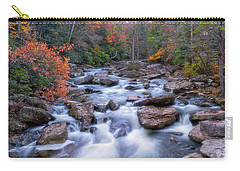 Carry-all Pouch featuring the photograph Fall Flow by Russell Pugh