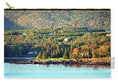 Carry-all Pouch featuring the photograph Fall Foliage In Bar Harbor by Bill Swartwout Fine Art Photography