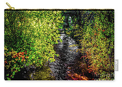 Carry-all Pouch featuring the photograph Fall Foliage by Jon Burch Photography