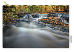 Carry-all Pouch featuring the photograph Fall Morning At Vaughan Brook. by Rick Berk